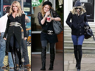 Over the knee Boots on Kate Moss, Hillary Duff and Carrie Underwood