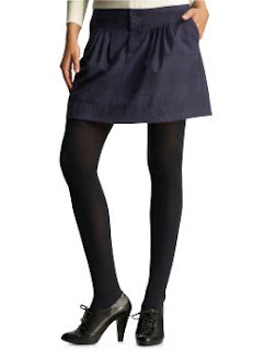 Navy plaid skirt from Gap