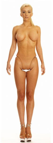 arte mulher boneca plastificada