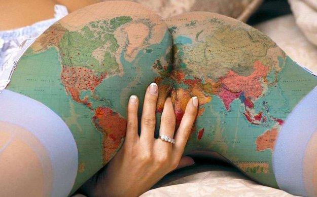 bunda tatuagem mapa mundi africa