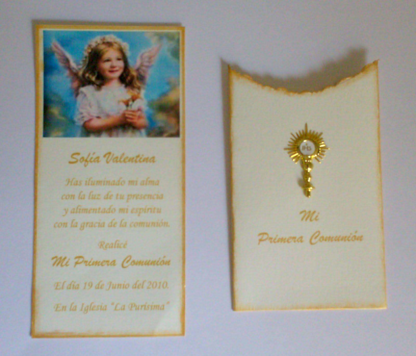 Temas para hacer tarjetas de primera comunion mejor - Hacer tarjetas de comunion ...
