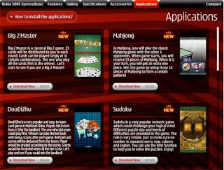 Giochi e Applicazioni Nokia
