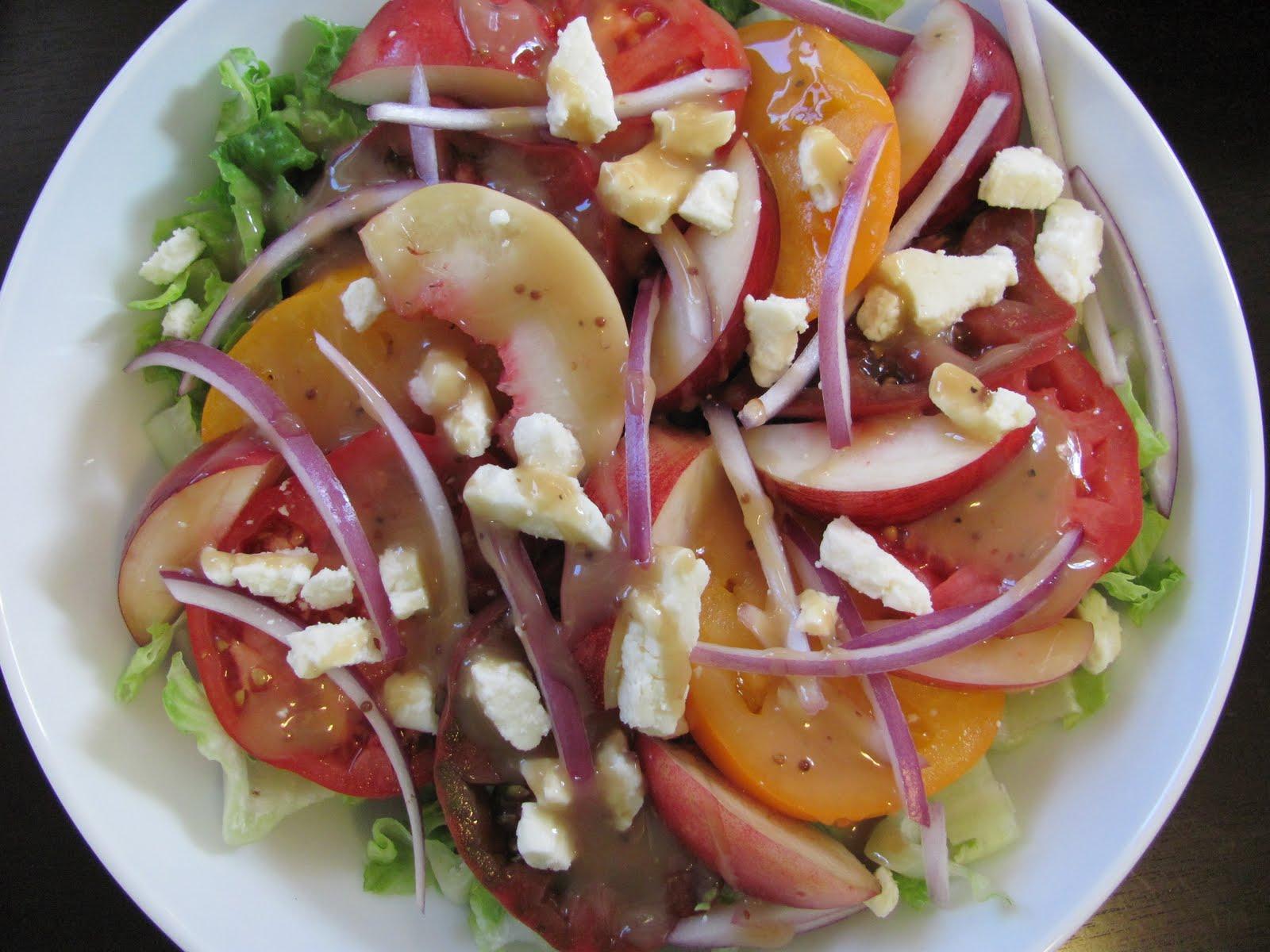 Veggie by Season: Nectarine and Heirloom Tomato Salad