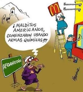 Humor gráfico contra el capitalismo, la globalización, la mass media occidental y los gobiernos entreguistas... Armas+quimicas