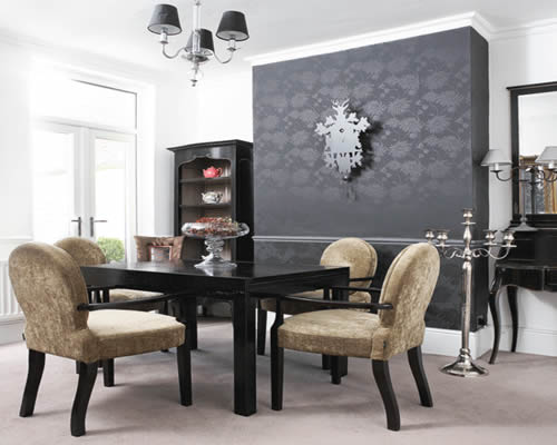 luxury dining room formal table