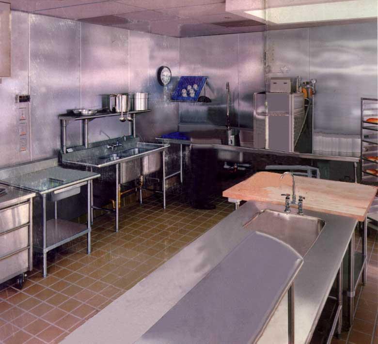 modern kitchen hotel