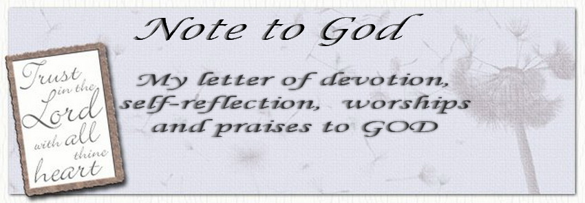 Note to God