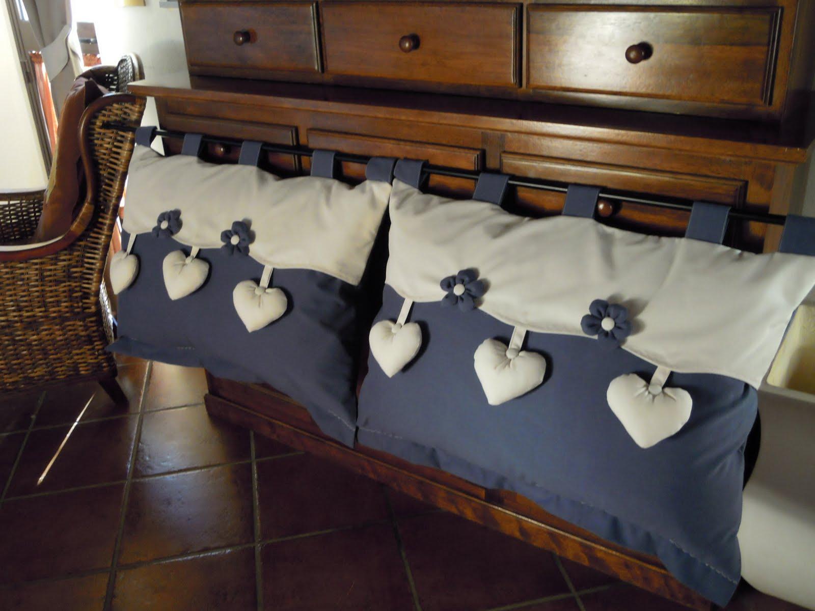 Country the blue dog sartoria d 39 interni testata del letto for Mantovana letto