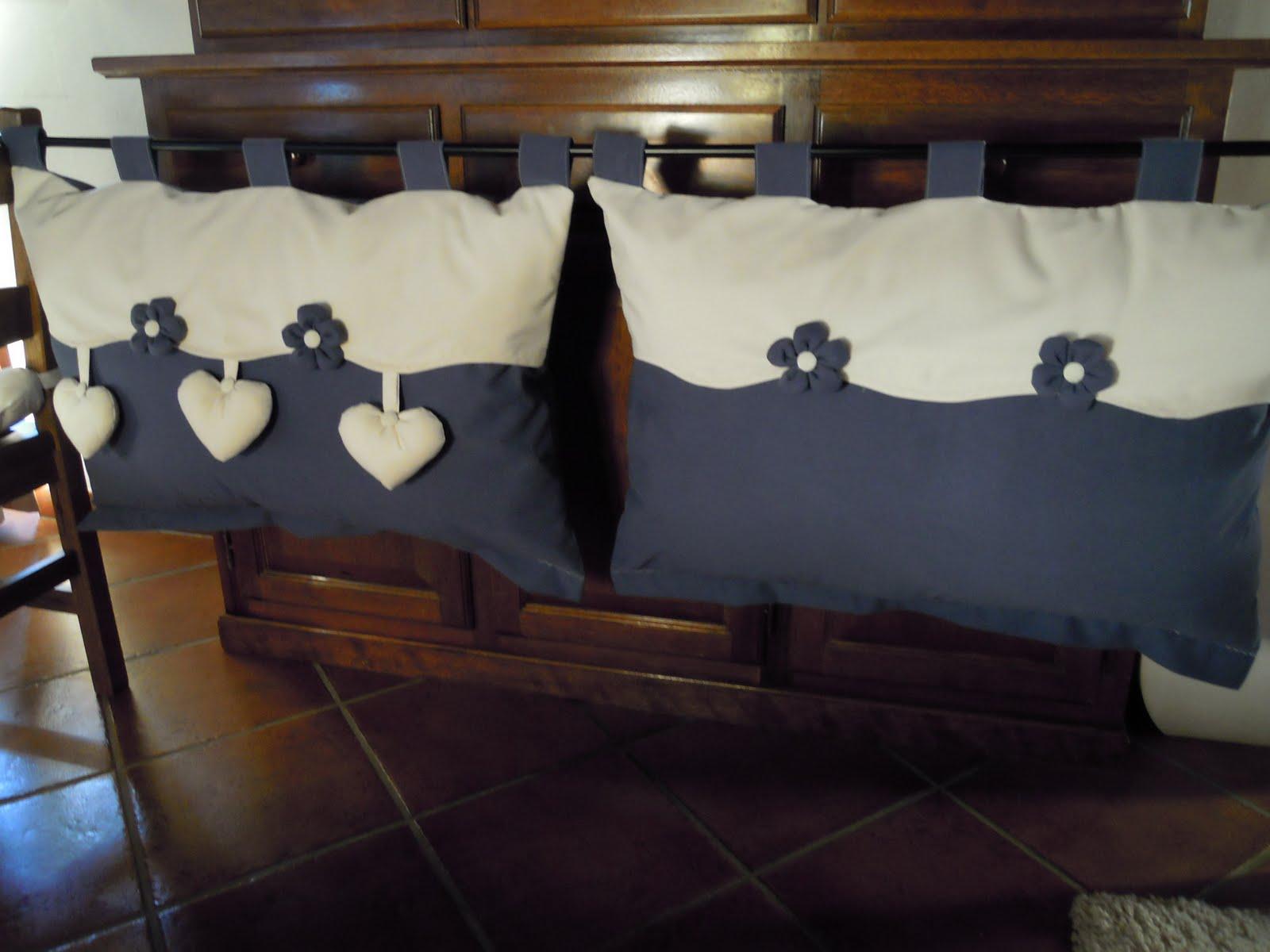 Testata del letto in tessuto - Testate letto con cuscini ...