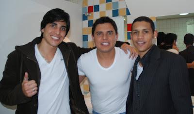 Wesley Demetrio com Hugo Pena e Gabriel