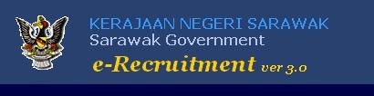 e-Recruitment.gov.my Kerajaan Negeri Sarawak vacancy