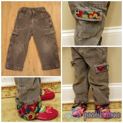 Proje 9 – Erkek çocuk pantolonlarını kız çocuk için yeniden biçimlendirme