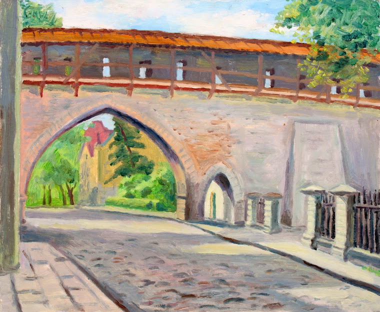 8.Archway in Old Town,oil on canvas,46x38 cm,Estonia 2009