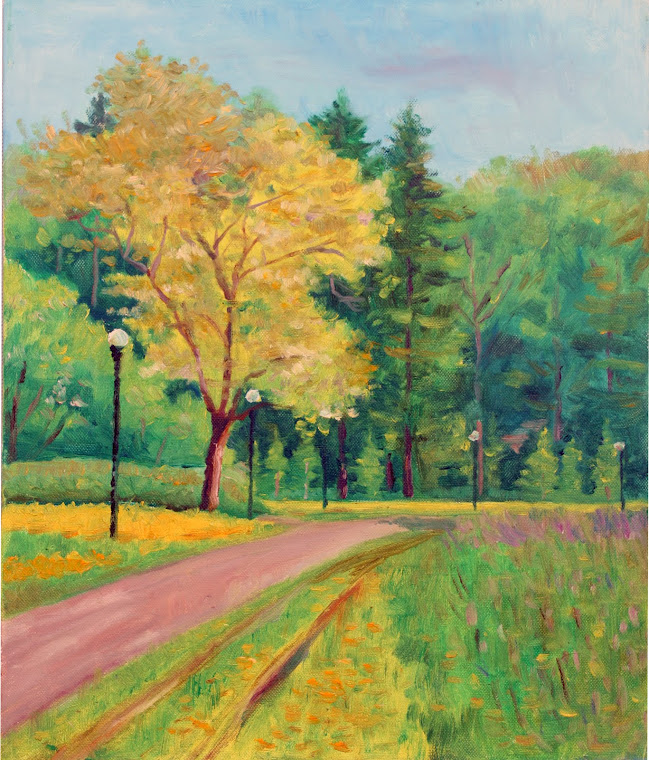 4.Kadriorg Park,oil on canvas,46x38 cm,Estonia 2009