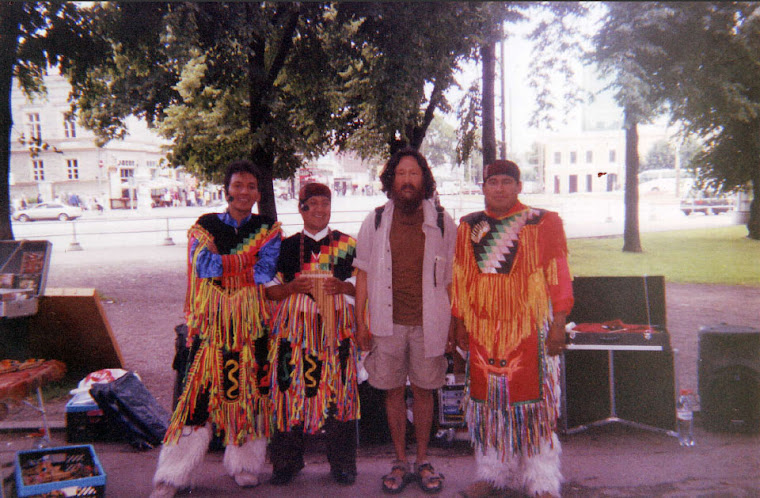 ENKHBAATAR WITH NATIVE AMERICAN MUSICIANS IN TALLINN