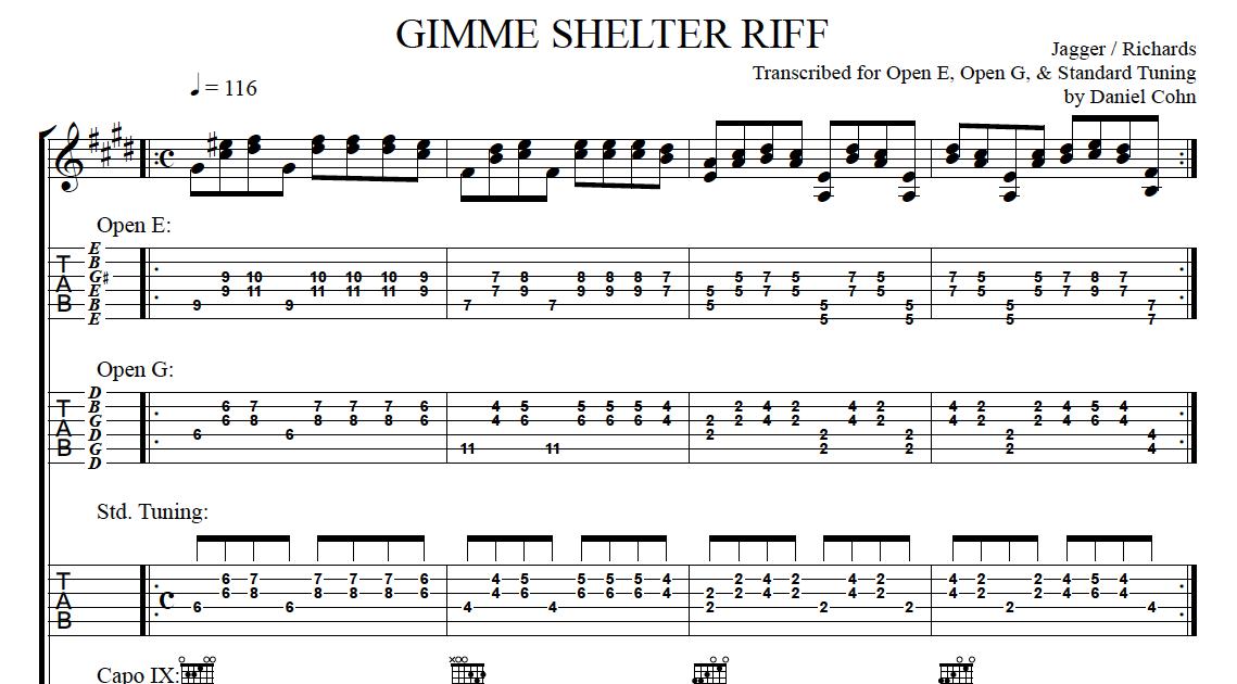 Jam Class! Washington, D.C. Guitar Lessons: GIMME SHELTER RIFF