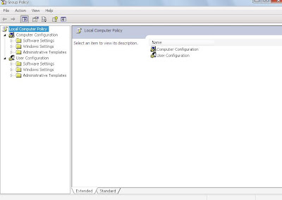 In left side under User Configuration section select Administrative