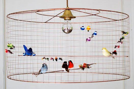 i am a voguette la voliere bird lamps by mathieu challieres. Black Bedroom Furniture Sets. Home Design Ideas