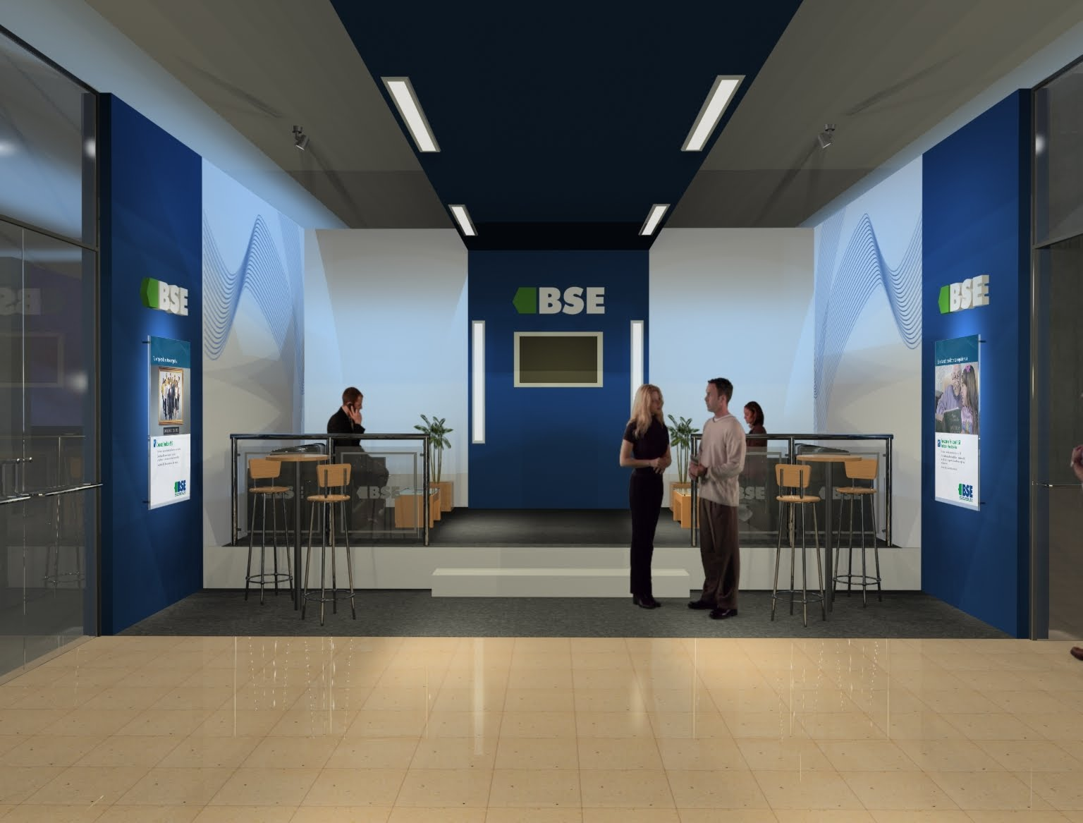 Iu arquitectura y dise o stand bse banco santiago del for Arquitectura y diseno stands 8 pdf