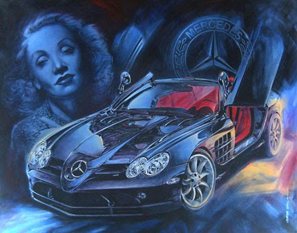 Mercedes Benz SLR McLaren and Marlene Dietrich