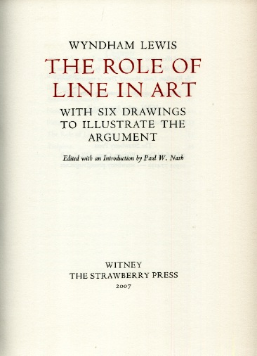 Functions Of Lines In Art : Daap library artists books wyndham lewis the role of