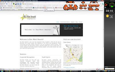 Bux-Mont Awards new website screen capture