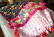 There is another way to make blankets: use polar fleece.