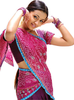 trisha actress in saree