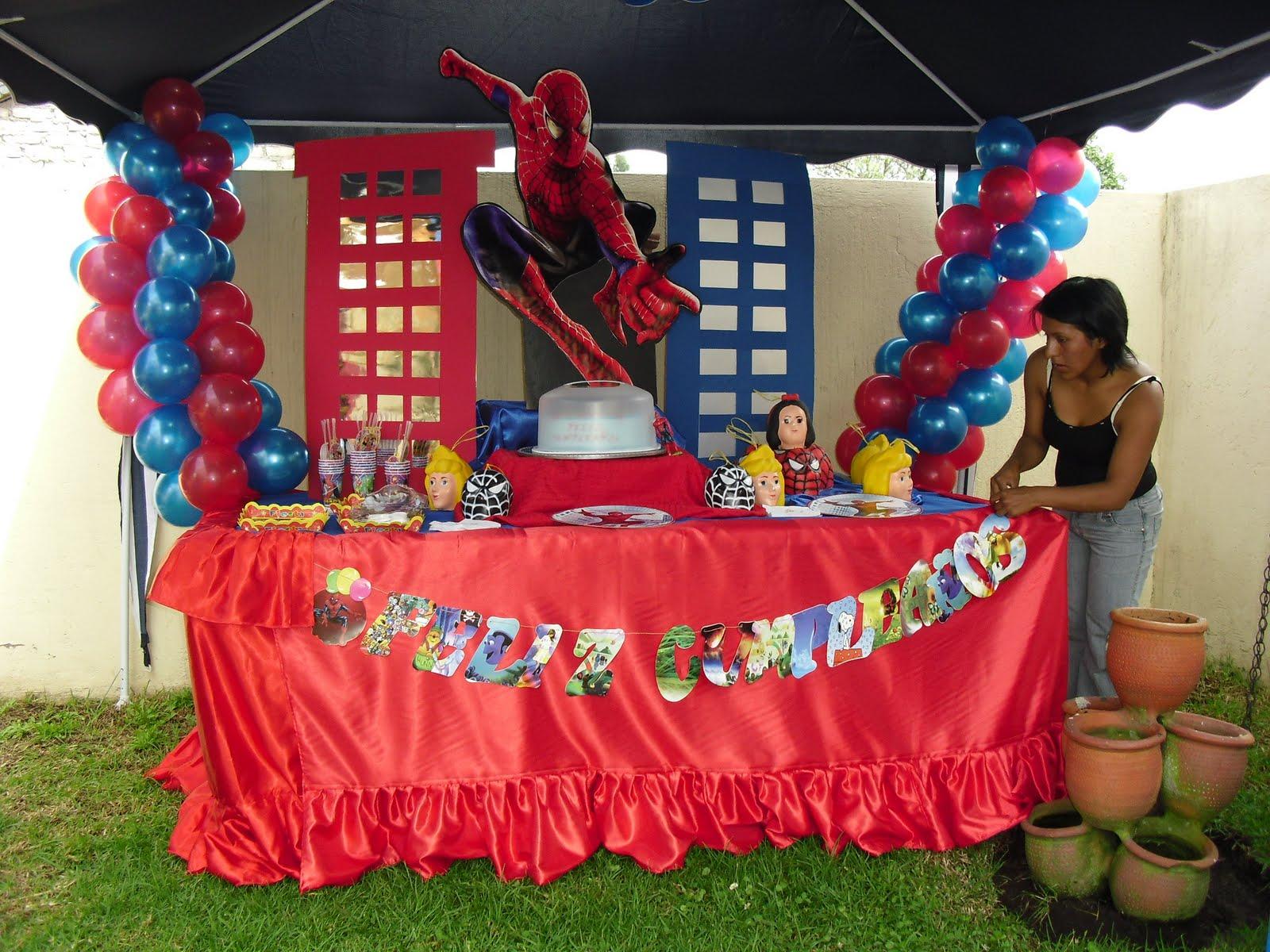 Decoracion de spiderman para fiesta infantil - Decoracion fiesta cumpleanos infantil ...