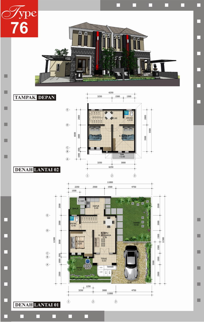 Download image Denah Ideal Rumah Minimalis Type 70 100 150 PC, Android ...