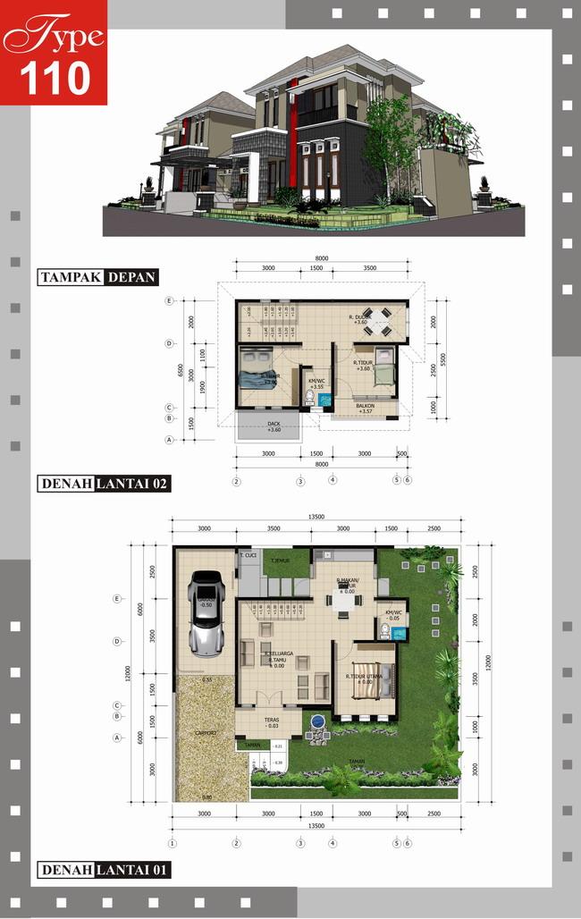 amblogfree: Denah ideal Rumah Minimalis Type 70-100/150