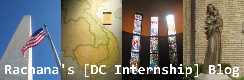 Rachana's DC Internship Blog