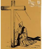 Le Moine et la Croix, dessin de Fray María Rafael