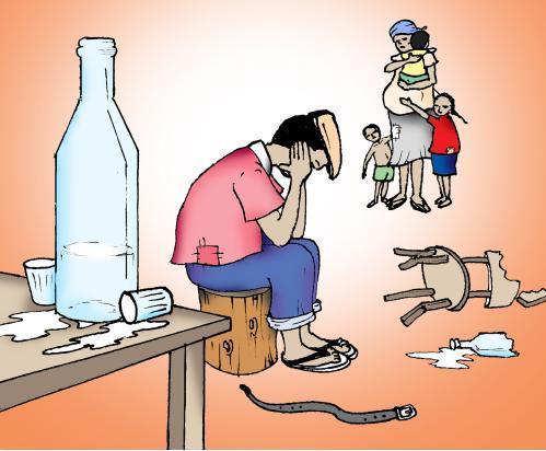 O marido que o alcoólico incomodou que fazer