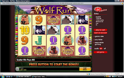 Wolf Run slot machine - win lots of cash!