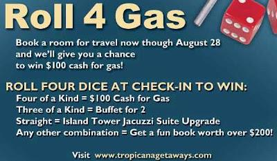 Las Vegas Tropicana Casino Roll For Gas