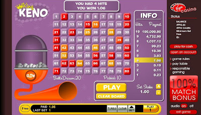 Play King Keno at Virgin Casino