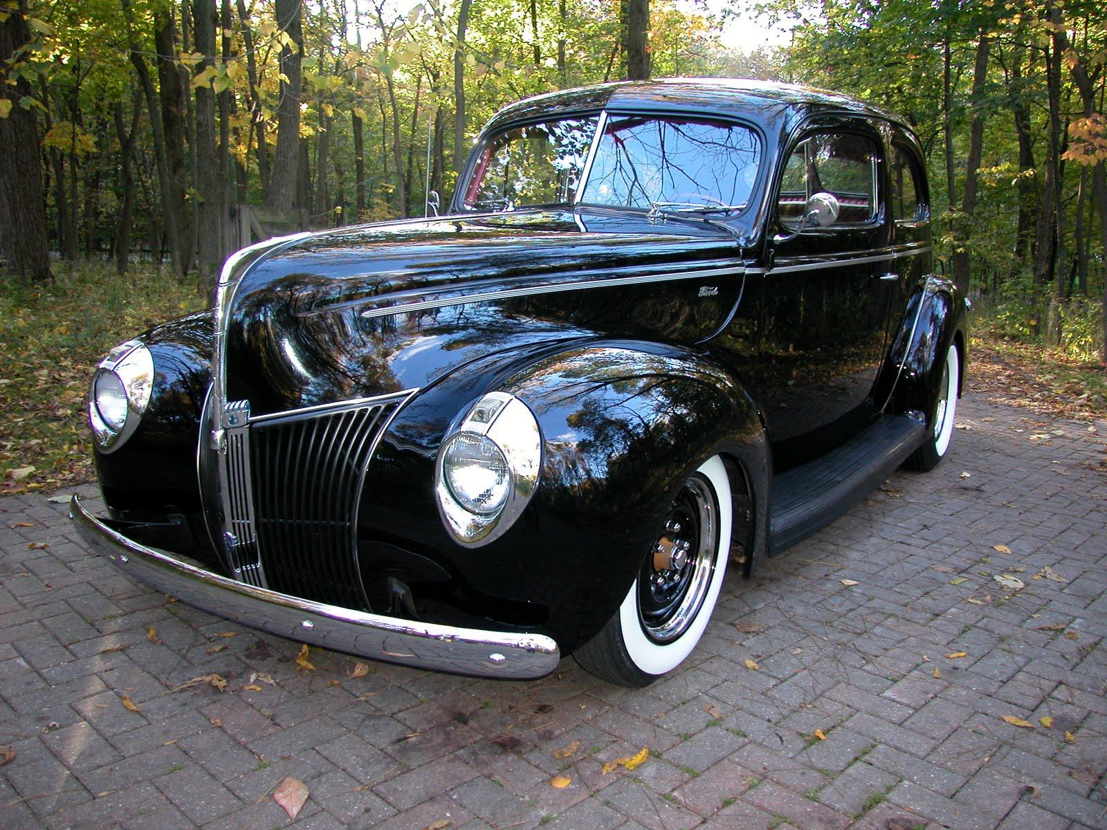 Ford Tudor Sedan 1940 restaurée  05+Eric+Debord++40%27s+Ford+Front+view