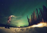 Yukon Arctic Ultra aurora borealis