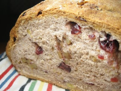 The Greasy Skillet: Cranberry-Walnut Bread