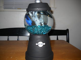 Creative and cheap fun and fabulous easy gumball fishbowl for Gumball fish tank