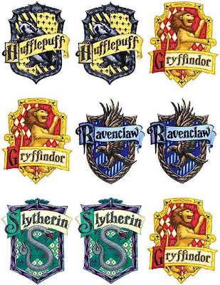 Insane image with harry potter house badges printable