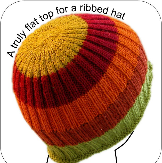 Knitting A Hat Flat : Techknitting a truly flat hat top and part of quot pocket