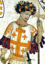 <br>Goffredo di Buglione<br> Advocatus Sancti Sepulchri, <br>difensore del Santo Sepolcro 1099-1100