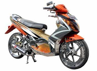 MODIF YAMAHA NOUVO FULL CHROME KINCLONG