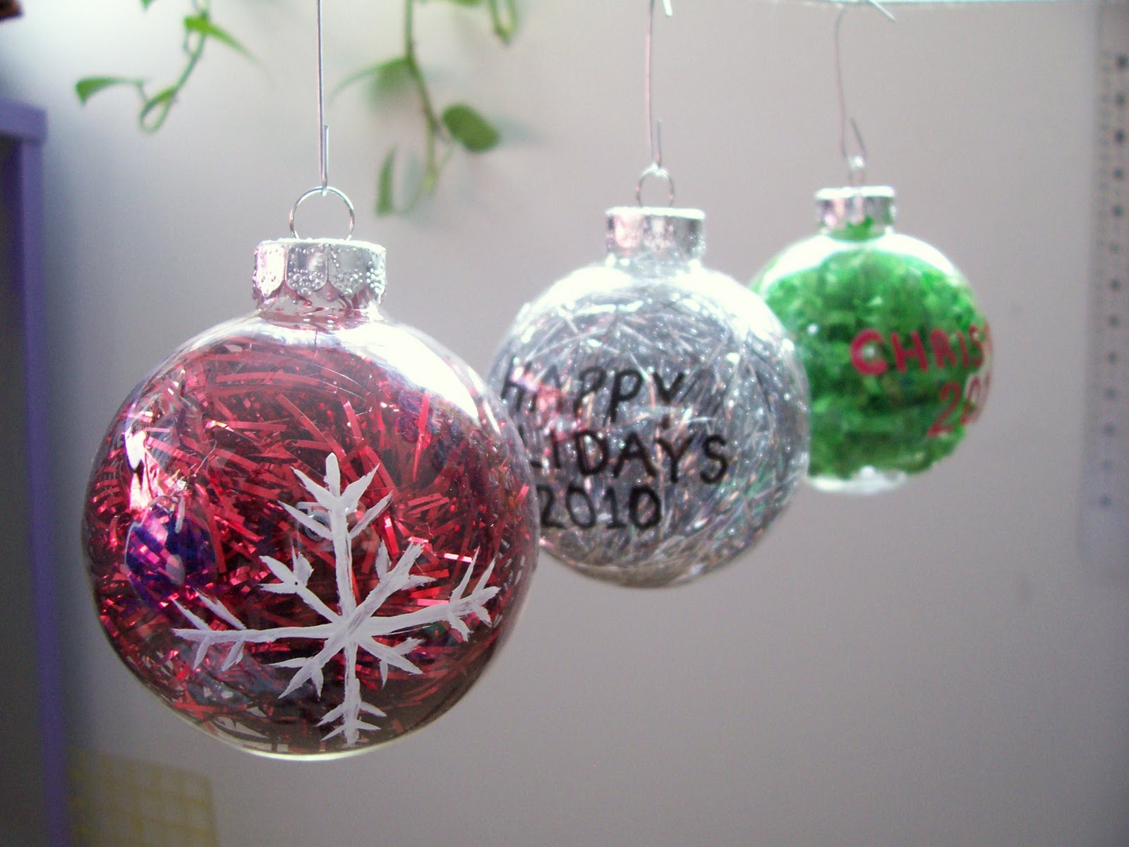 Christmas Ornament Craft Clear Balls : Craftopotamus glass holiday ornament
