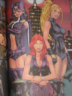 Black Canary is the blond Barbie The brunette Barbie is Huntress