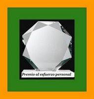 Premio al esfuerzo personal  - Personal Efforts Award