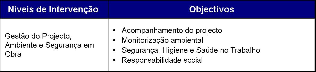 objectivos das intervencoes em caso de desmantelamento e demolicao