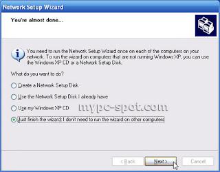 Network Setup Wizard Selesai
